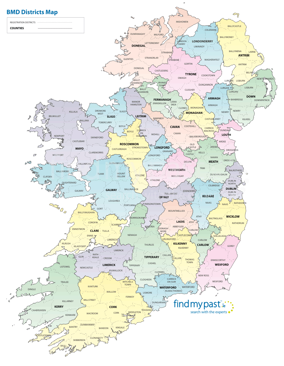 Ireland District Map